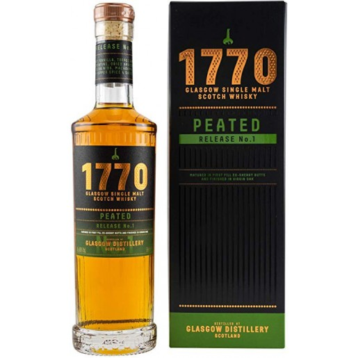 Whisky 1770 Glascow Single Malt Peated 50cl