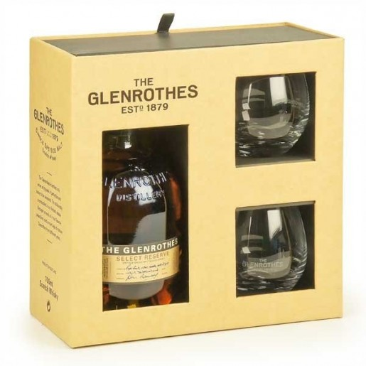 Coffret Glenrothes Select Reserve + 2 verres
