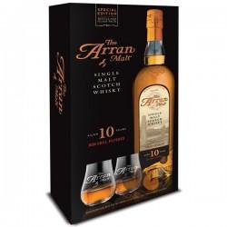 Coffret Arran 10 ans Single Malt + 2 verres