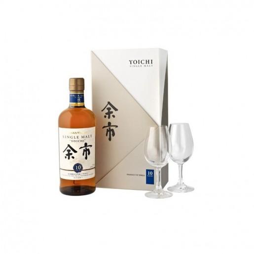 Yoichi 10 ans single malt 45% 70cl coffret avec 2 verres