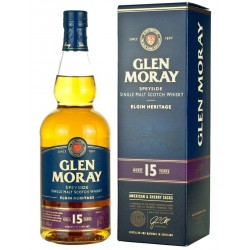 Glen Moray 15 ans Single Malt 70cl 40%vol.