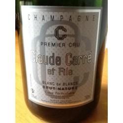 Champagne Claude Carré blanc de blancs Brut nature 75cl