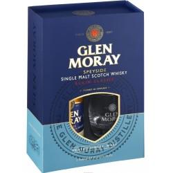 Coffret Glen Moray Tourbé Peated 70cl + 2 verres