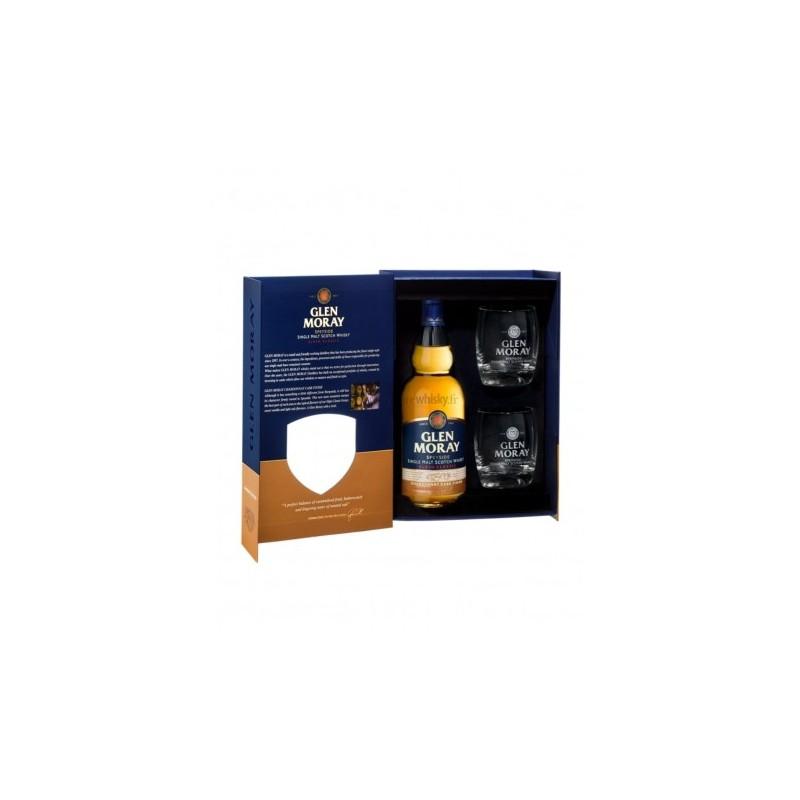 Coffret Glen Moray Chardonnay + 2 verres
