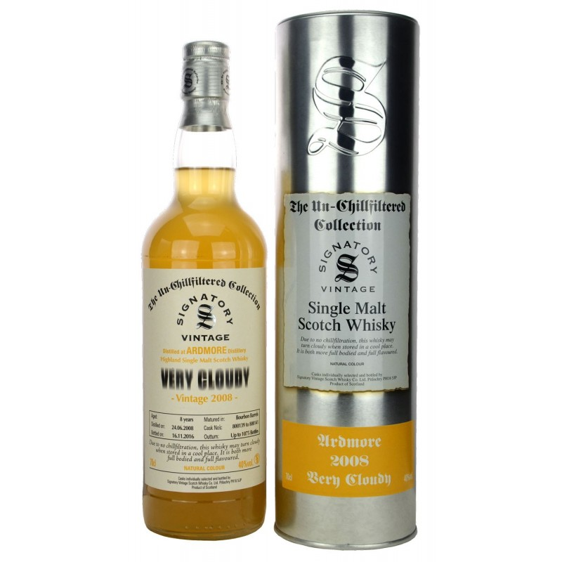 Ardmore Signatory Vintage 2008 Very Cloudy 70cl