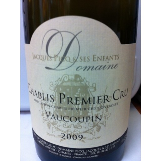 Chablis 1er Cru Vaucoupin Domaine Jacques Picq 2018 75cl